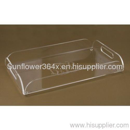 clear acrylic wine tray