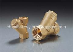 Brass strainer valve, strainer valve