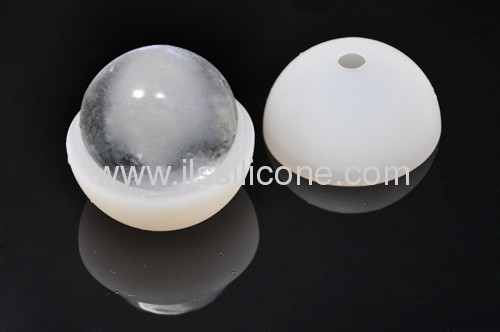 popular silicone ice ball mold/ice cube tray with 7.5cm in diameter