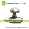 Adjustable flow rate stainless steel valve