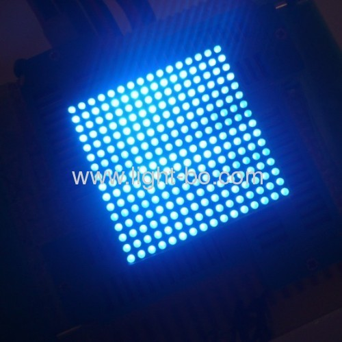 Ultra bright orange 1.8mm 16 x 16 dot matrix led display with 40 x 40mm package dimensions