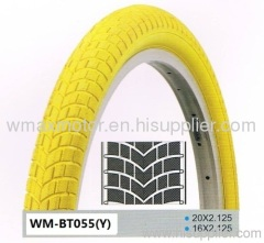 Bicycle tire colored tire