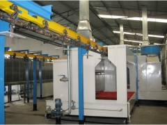 powder coating line for pole line