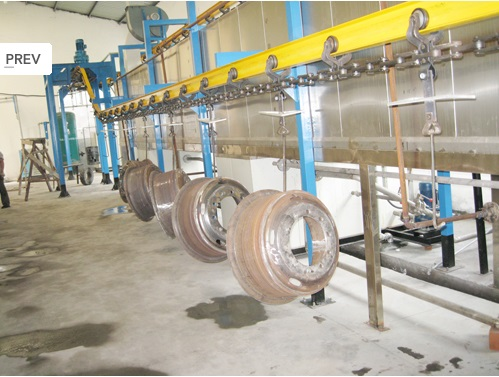 powder coating line for car parts