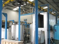 powder coating line for power switch