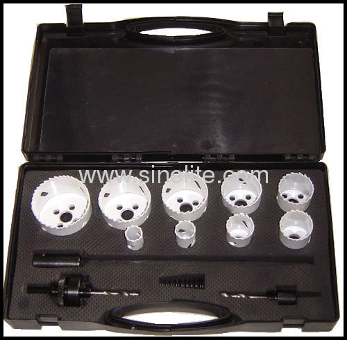 HSS Bimetal Plumber's hole saw kit 13pcs/set
