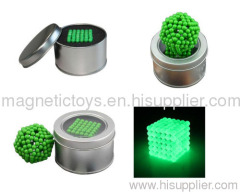glowing neocube/magnetic ball/buclyball magnetic toy
