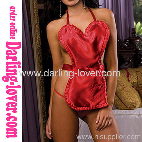 Sexy Red Stomachers Babydoll Lingerie