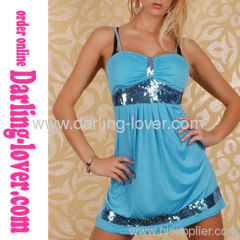 Sexy Blue New Stripe Wholesale Babydoll
