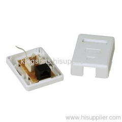 Surface Box Cat.6 RJ45 Surface Jack single port