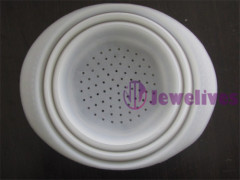 Silicone Noodle Strainer in clear