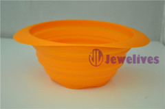 FDA Silicone steamer foldable silicone pot