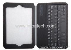 Bluetooth keyboard leather case for IPAD Mini