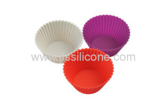 Mini round silicone muffin cake mold in various colors