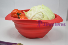 Food safe silicone folding basket
