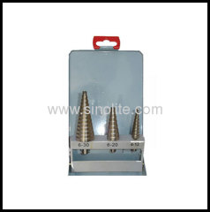Metal box 3pcs/set HSS step drill set