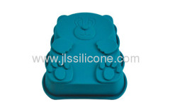 dishwasher safe small bear silicone cake or muffin mold
