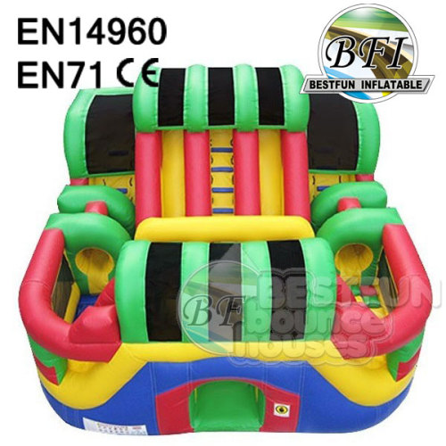 Inflatable Adrenaline Obstacle Course With Big Size