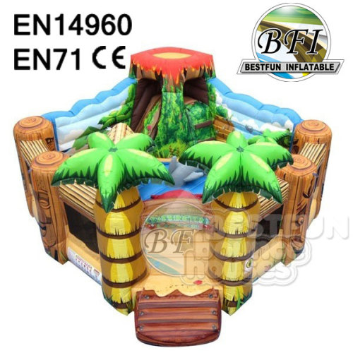 Inflatable Volcano Lagoon Toddler Playground