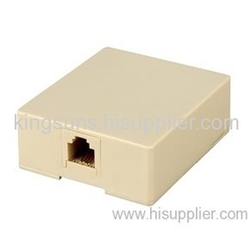RJ45/RJ11 Rossete surface box