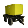 the trailer type genset with soundproof