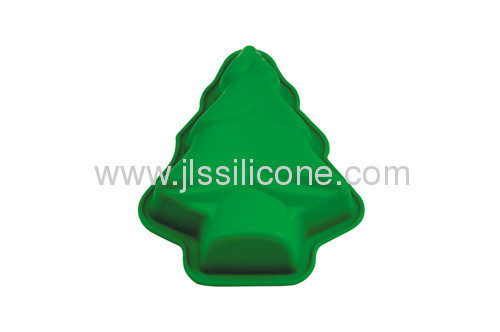 Christamas tree shaped silicone mold for muffin and jelly