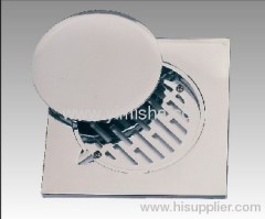 Square ABS 150mmx150mmx4mm Chrome Plated Floor Drain with Clean Out
