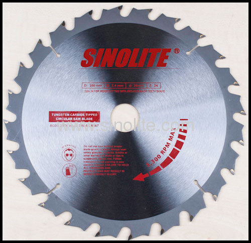 ANTI-KICK-BACK Teeth, Silence Design TCT Saw Blade