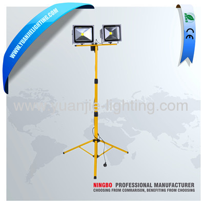 double heads 2*30W LED work light with tripod