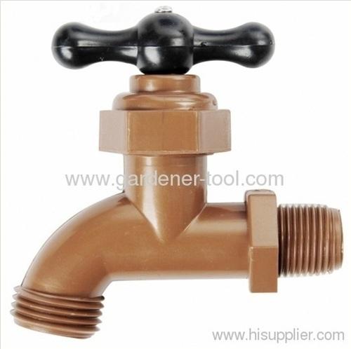 plastic garden outdoor water faucet.