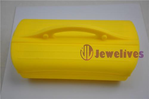 Yellow Silicone steam case portable Silicone lunch box