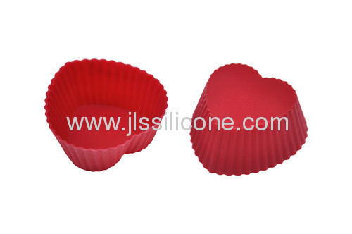 heart shaped silicone cake baking pan also for muffin and jelly
