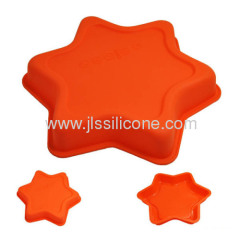 silicone cake and muffin bake pan with pentacle shaped