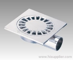 Square Zinc Alloy Chrome Plated Floor Drain with Outlet Diameter 32 mm of Elbow
