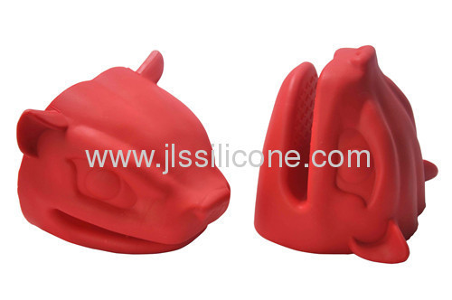 Heat ressisted wolf shaped silicone oven mitt glove