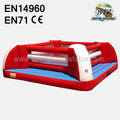 Red Outdoor Inflatable Boxing Ring