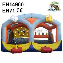 Outdoor / Indoor Interactive Inflatable Baseball Shooter