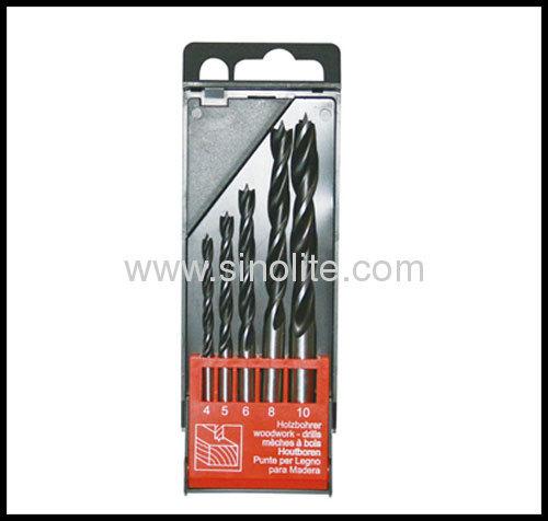 Wood drill bit 3 brad point 5pcs Size 4-5-6-8-10mm