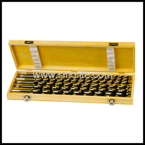 6PCS Auger Bits Set, Length 460mm; Size: 10-12-14-16-18-20mm packed in wooden box