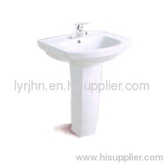 Basin with pedestal for washing