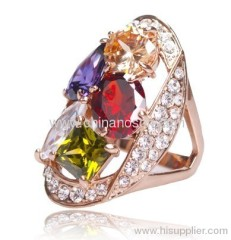 Ladies fashion CZ jewellery ring for party