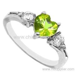 Moda cubic zirconia bijoux anello