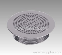 Big Circular Brass Chrome Plated Waste Drain with Outlet Diameter G 2''