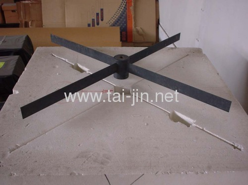 Titanium IrO2-Ta2O5 coated leaf anode for cathodic protection