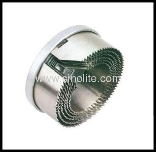 Exchangable hole saw set 5pcs Sizes: 60-68-74-80-90-100mm