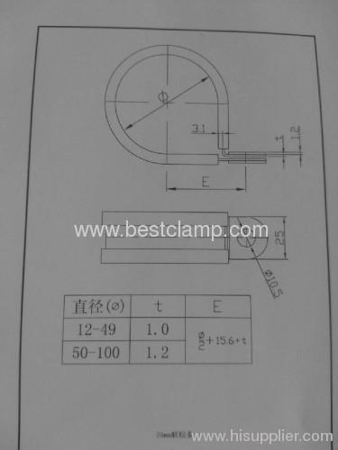 9/12/15/20/25 mm Bandwidth Fixing clamp