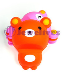 Lovely Red bear-Silicone cell phone holder
