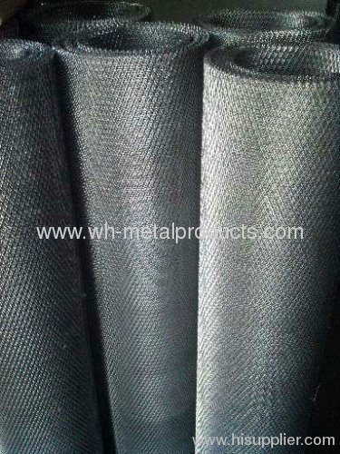 The black plain steel wire cloth metal wire mesh