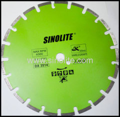 Diamond brazed saw blade
