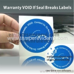 Round Do Not Accept If Seal Breaks one time use Labels